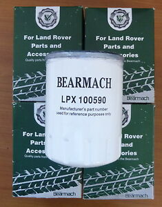Land-Rover-TD5-Oil-Filter-Bulk-Pack-of-4-Bearmach-LPX100590-plus-4-x-Sump-Washer