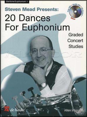 20 Dances For Euphonium Bass Clef Sheet Music Book/cd Een Compleet Scala Aan Specificaties