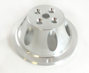 Aluminum-SBC-Small-Block-Chevy-Short-Water-Pump-Single-Groove-Pulley-SWP-Natural