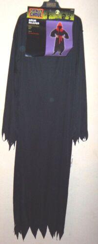 @@ mens GRIM REAPER NEW NWOT HALLOWEEN COSTUME ROBE BELT HOOD black red AWESOME