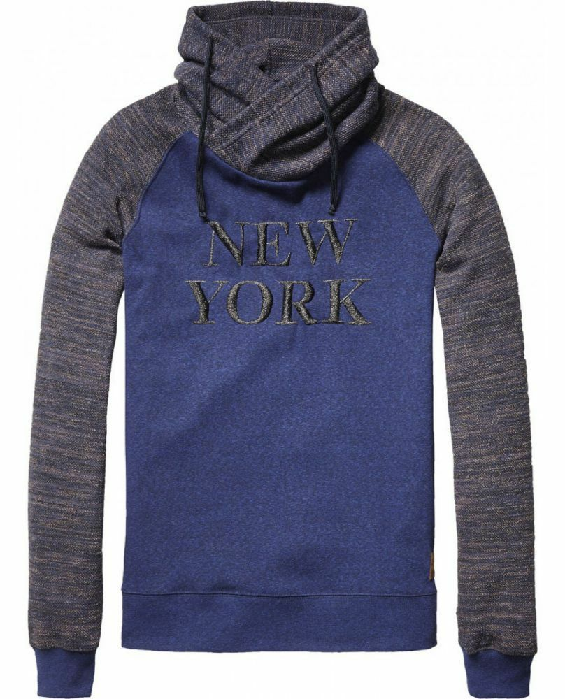SCOTCH & SODA Twisted Twisted Twisted Hood Sweat in different STRUCTUR Pullover 171d6e