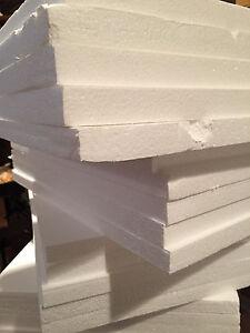 "24 pcs 12/""x 6/"" x 1/"" Styrofoam Polystyrene Flats Sheets crafts Arts Shipping"