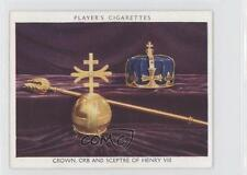 1937 Player's British Regalia #18 Crown Orb and Sceptre of Henry VIII Card 1s8