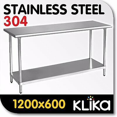 1200 x 600 STAINLESS STEEL 304 COMMERCIAL KITCHEN BENCH FOOD CATERING PREP TABLE
