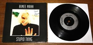 AIMEE-MANN-STUPID-THING-HAND-SIGNED-UK-7-034-1993-UACC-REGISTERED-DEALER