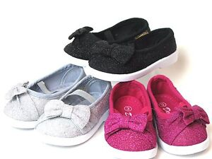 c3c3cc94c29d Baby Toddlers Girls Glittery Slip-On Dress Shoes Loafers Bow Front 3 ...