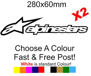 Alpinestars stickers decals x2