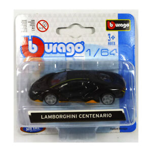 Bburago-59000-Lamborghini-Centenario-Black-Yellow-Scale-1-64-Model-Car-New