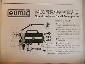 Eumig mark s 710 d, film projectors spare parts and information.