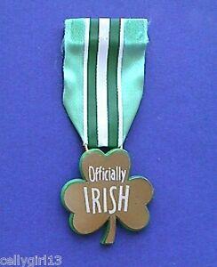 Hallmark-PIN-St-Patrick-Vintage-SHAMROCK-Ribbon-OFFICIALLY-Irish-Holiday-Brooch