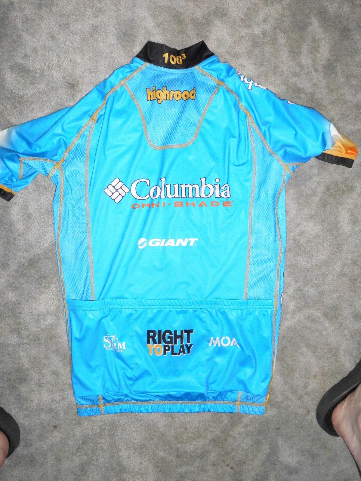Unikat M Original Hincapie Team Columbia Highroad Sommer Jersey Gr. M Unikat 4dec07