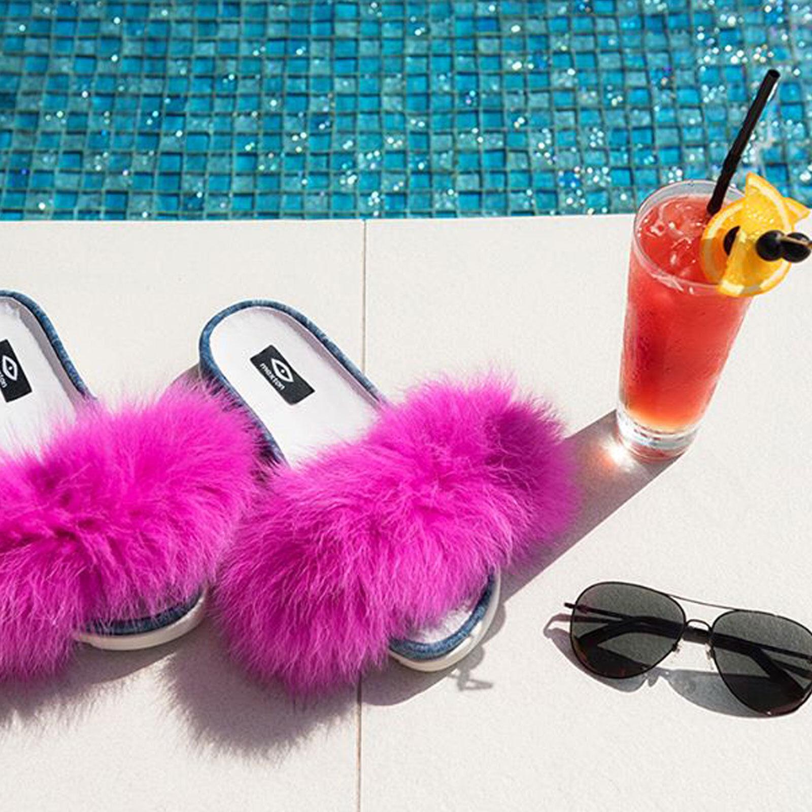By alina sandalias plataforma zapatillas zapatillas zapatillas de casa Fell cola playa zapatos rosado 36-39  muchas sorpresas