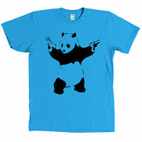 Banksy Panda With Guns Stencil Graffiti Shirt - Multiple Colors