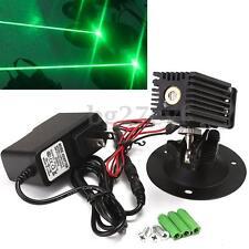 Green Laser Linear Line Module Locator With Adapter + Fan 532nm 1mW New