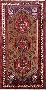 Geometric-Traditional-Hamedan-Hand-knotted-Area-Rug-Tribal-Oriental-3-039-x6-039-Carpet
