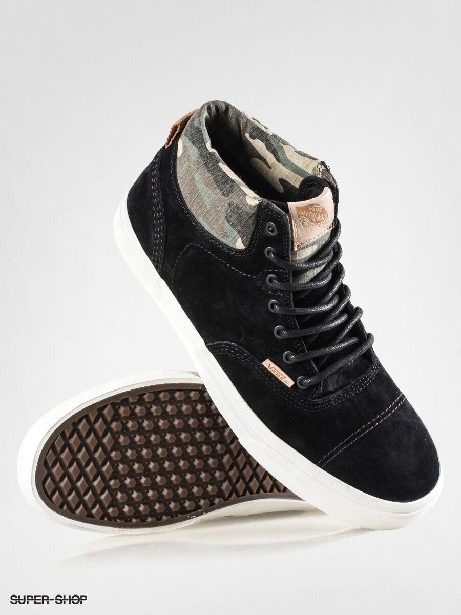 Vans Era Hi CA Pig Suede Black Camo Men's Classic Skate Shoes Size sz 11 sk8 hi