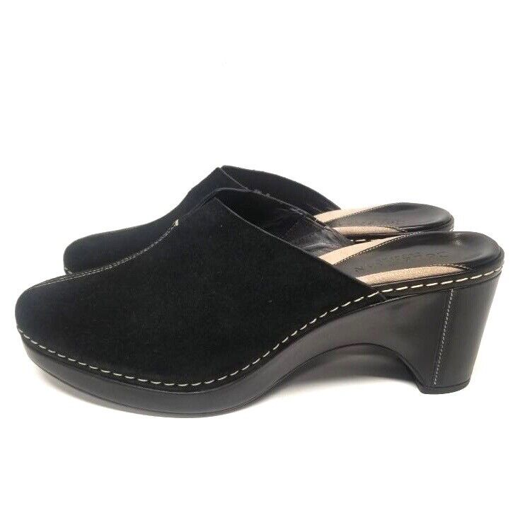 NEW Cole Haan Country EVITA Womens Clogs Size 9.5 B Shoes Black Suede Brazil