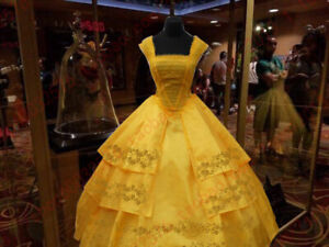 Belle Dress 2017 Beauty And The Beast Costume Emma Watson Party Ball Gown Adult Ebay