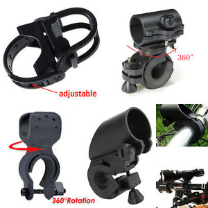 Bike-Cycle-Bicycle-Light-Lamp-Torch-LED-Flashlight-Mount-Bracket-Holder-Clip-NEW