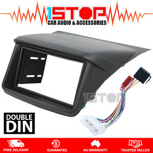 mitsubishi triton ml mn double din facia kit iso wiring harness image is loading mitsubishi triton ml mn double din facia kit