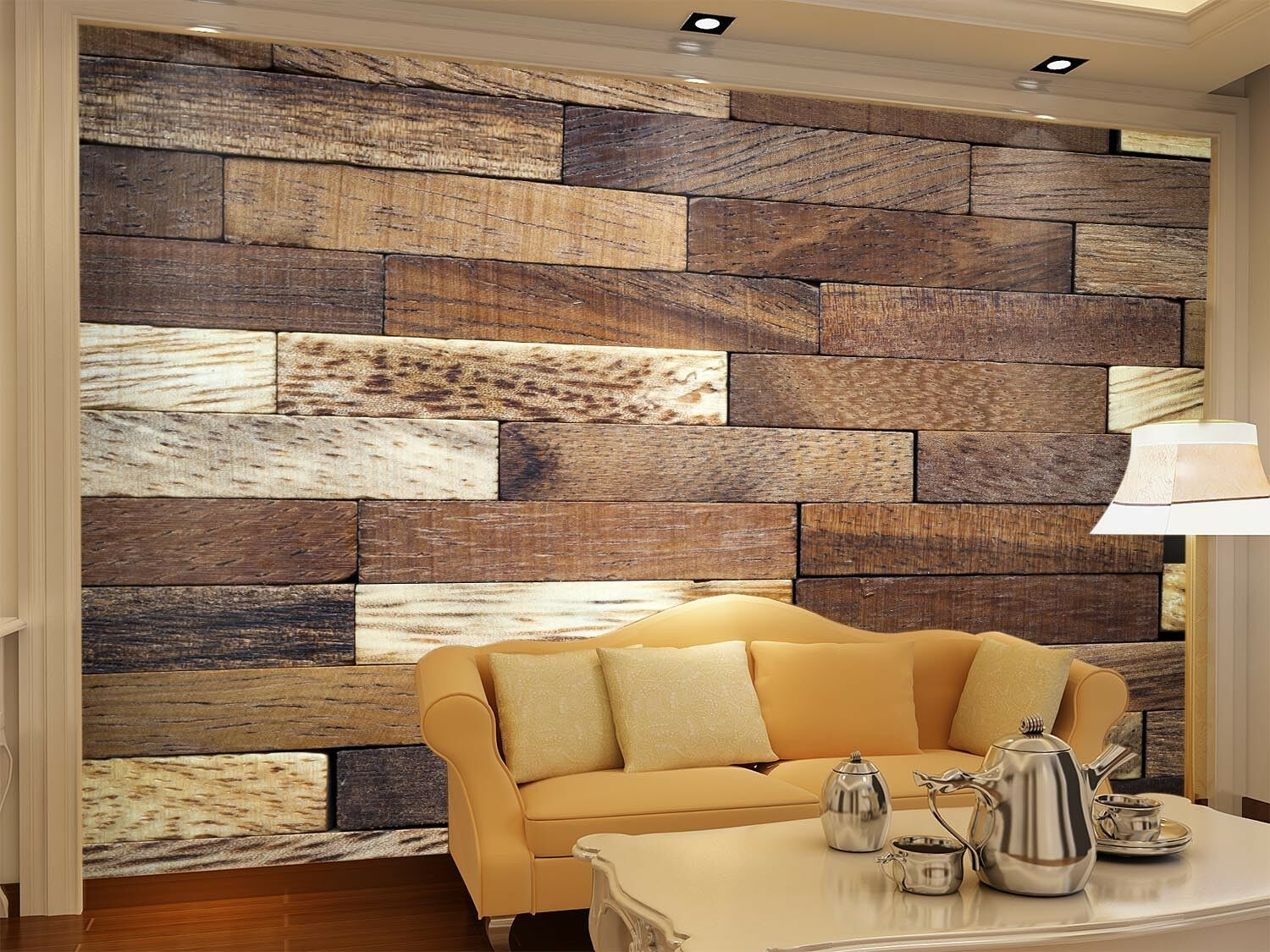 3D Brown Wood Pattern 6 Wall Paper Wall Print Decal Wall Deco Indoor Wall Murals