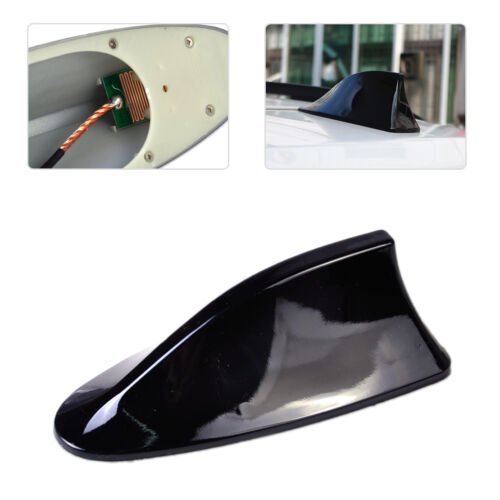 New Black Car Auto Shark Aerial Fin Antenna Roof Radio Signal FM AM Replacement