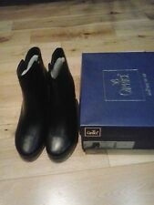 CAPRICE BOOTS 9-26337-21 SHEEPSKIN LINING WALKING ON AIR BLACK SIZE 4.5/37.5