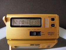 Vintage LCD Reisewecker Wecker SEIKO QD 801 D mit Anleitung / wie neu