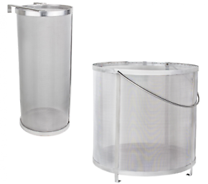 Beeketal-Edelstahl-Durchlass-Filter-Sieb-Hopfenfilter-Bierfilter-Selbstbrauen
