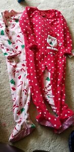 Clothing, Shoes & Accessories Precise Carter's Baby Girl 4t Footed Sleeper Christmas Santa Pajamas Pink 2 Pack Girls' Clothing (newborn-5t)