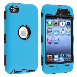 Hybrid-Hard-Silicone-Case-for-iPod-Touch-4th-Gen-Black-Blue