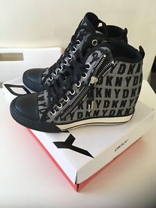 New Womens DKNY Wedge Trainers Uk Size