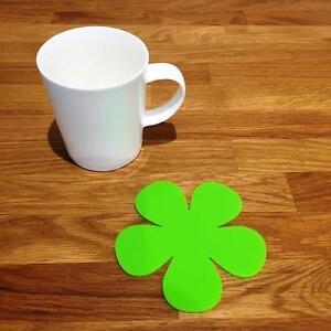 Fringant Daisy En Forme De Citron Vert Vernis Acrylique Coasters, Ensembles De 4, 6 Ou 8, 11 Cm-afficher Le Titre D'origine à Tout Prix