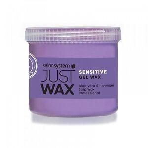 Salon System Just Wax Sensitive Gel Wax with Lavender & Aloe Vera 450g
