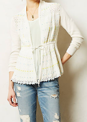 Moth Lazuli Dusted Cardigan Sweater Various Sizes Neutral NW ANTHROPOLOGIE Tag
