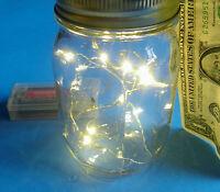 Pint Ball Canning Jar W/ Led Fireflies Lights Rustic Country Wedding Patio Decor