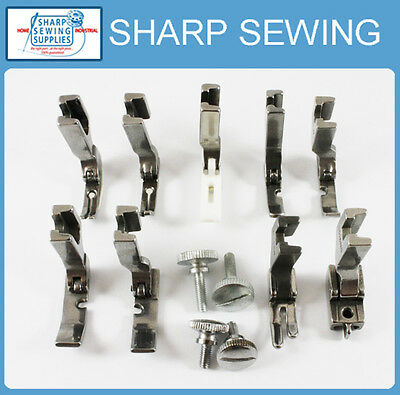 25 PRESSER FOOT SET HIGH SHANK JUKI BROTHER SINGER CONSEW MITSUBISHI TACSEW