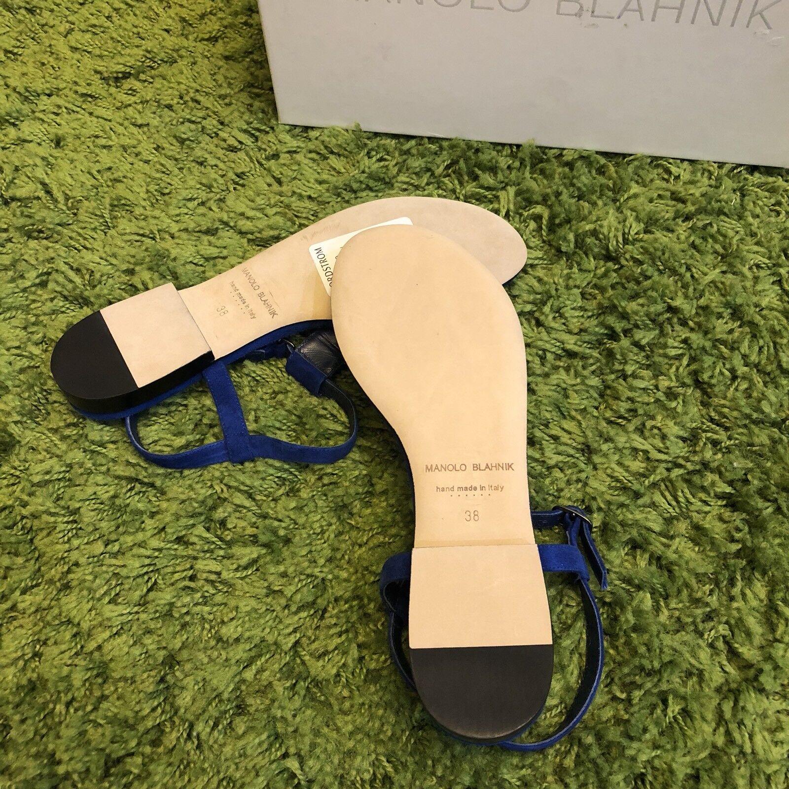 NIB NIB NIB  995 Manolo Blahnik Ottolina T-Strap Sandals e3d8b3