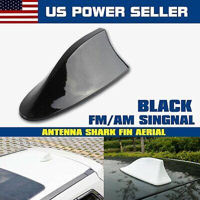 Car Antenna Shark Fin Vortex Stereo Cover AM FM Radio Black Decoration Replace