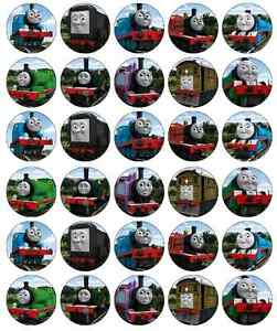 30-x-Thomas-The-Tank-Engine-Cupcake-Toppers-Edible-Wafer-Paper-Fairy-Cake-Topper