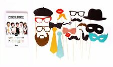 DOIY Party Time Photo Booth Props for Children Adults Multi-Color 20 Pieces