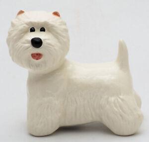West Highland White terrier dog porcelain statue