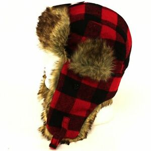 1a7a84a12a9 Dakota Dan Trooper Ear Flap Cap w  Faux Fur Lining Hat 736206235228 ...