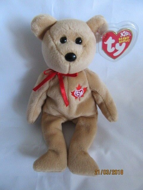 TY True The Bear Beanie Baby (canada ) for sale online  b24852022cd