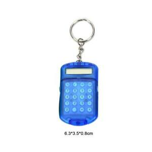 Clear-Plastic-Casing-8Digits-Electronic-Mini-Calculator-Tool-School-Keychai-F5T2