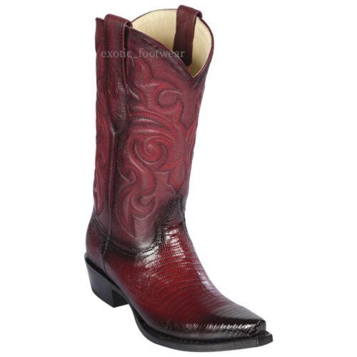 Men/'s Los Altos Genuine Teju Lizard Cowboy Western Boots Snip Toe