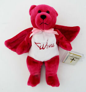 NWT-WINGS-HOLY-BEAR-Pink-Plush-Bean-Bag-w-Bible-amp-Breat-Cancer-Ribbon-Embroider