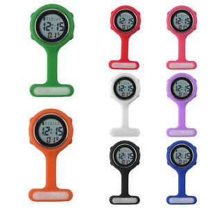 Colorido-Multi-Funcion-Digital-Silicona-Enfermera-Fob-Watch-Reloj-de-Goma-en-Caja-De-Regalo