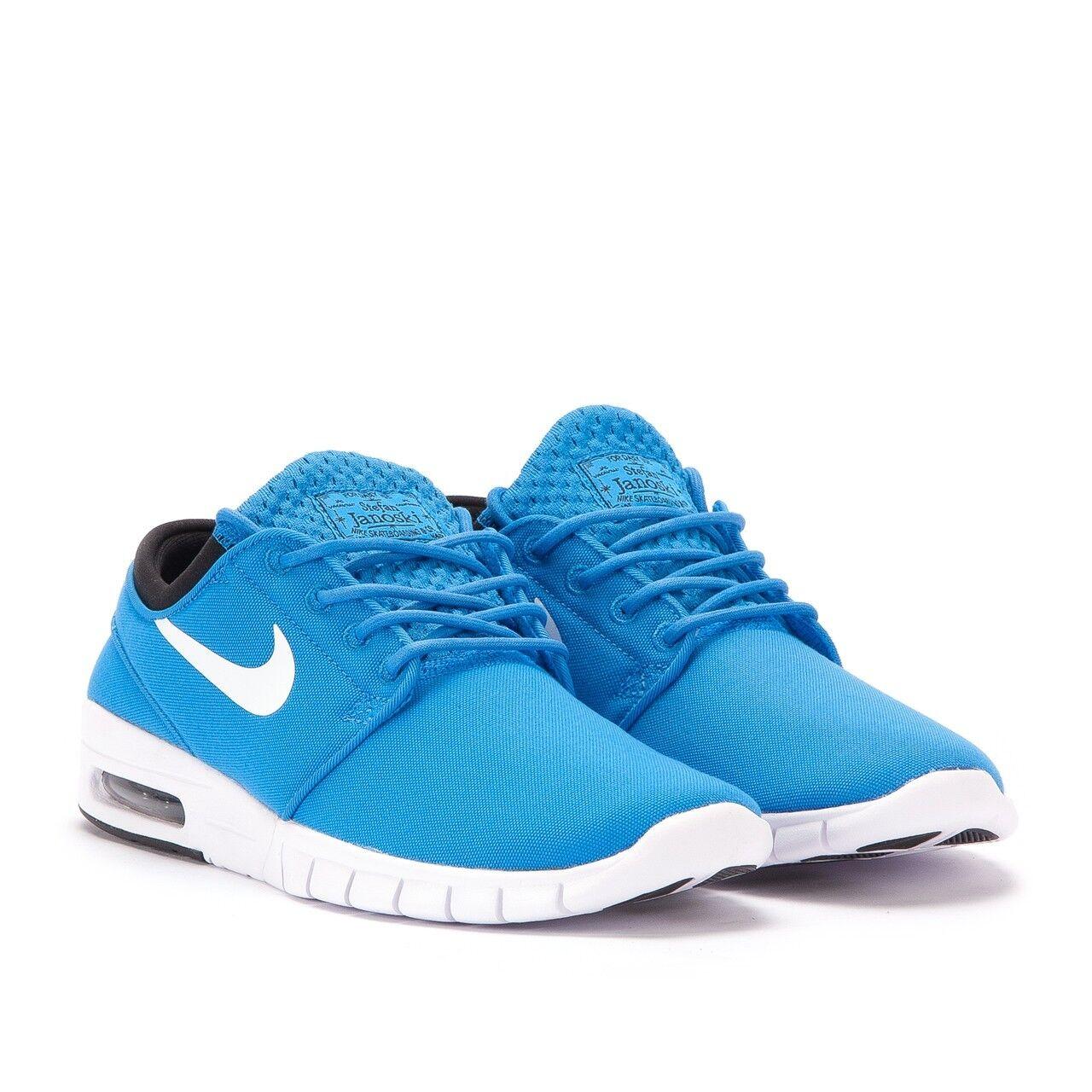 New* Men's Nike Stefan Janoski Max Shoes Photo Blue White Black 631303 401 Sz 14