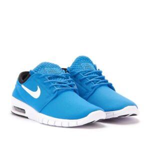 arrive 2a052 6e60e Détails sur Neuf pour Homme Nike Stefan Janoski Max Chaussures Photo Bleu  Blanche Noir